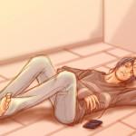 休日をダラケて過ごした葵ちゃん